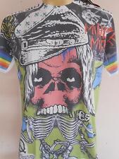 Minute Mirth peace skeleton Tattoo Men T Shirt L Free Shipping