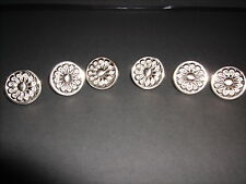 Decorative Stainless Steel Drawer Cabinet Knobs Pulls Handles Lot of 6