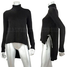 JUST CAVALLI BY ROBERTO CAVALLI SWEATER TURTLENECK BLACK MOHAIR XS EXTRA SMALL