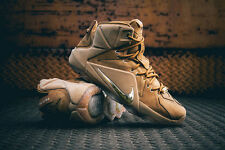 Nike LeBron 12 XII EXT Wheat Size 9. 744287-700. Tan cork what the bhm elite