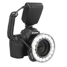 Hot Macro 18PCS LED Ring Flash Light RF600D for Nikon Canon Olympus DSLR Camera