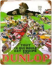 Dunlop Miniatur Fahrzeuge verrostet metall schild (pst 1512) AUSVERKAUFSPREIS