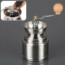 Manual Spice Coffee Bean Pepper Grinder Stainless Steel Burr Ceramic Core
