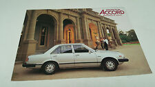 April  1980 HONDA ACCORD Australian  Sales Brochure