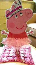 Peppa Pig Bailarina Cake Topper de 8 pulgadas de alto tan lindo!!!