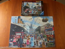 RAVENSBURGER PUZZLE Titanic's Maiden Voyage - 1000 Piece Jigsaw - Complete - VGC