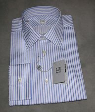 New Ike Behar Men's Dress Shirt 16 x 34/35 - Blue Stripe - NEW w/tag-
