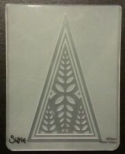 Sizzix Large 4.5x5.75in Embossing Folder LONE LEAF TREE fits Big Shot Cuttlebug