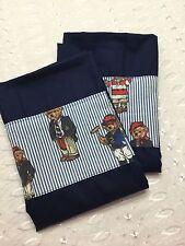Ralph Lauren Teddy Bear Decorated Navy  Standard Pillowcases