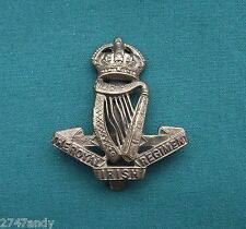 The Royal Irish Regt - 100% Genuine WW1 British Army Military Cap Badge