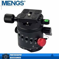 "MENGS DH-55 1/4"" & 3/8"" Screw Tripod Indexing Ball Head w/ Quick Release Plate"