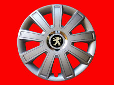 "4x15"" Wheel trims hub caps  for Peugeot  full set silver 15 inch"