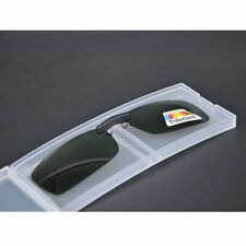 Glare Blocking Polarized Uv Clip on Sunglasses for Metal Frame Size S with Case