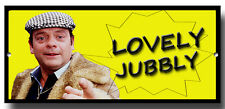 LOVELY JUBBLY METAL SIGN,NOVELTY,ONLY FOOLS AND HORSES, DEL BOY, RODNEY