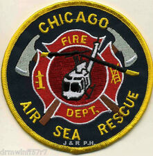 "Airport - Chicago  Air - Sea Rescue, IL  (4"" round size) fire patch"