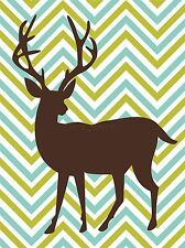 Stampa art Pittura Disegno Astratto DEER SILHOUETTE trendy GRAPHIC lfmp0892