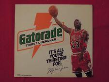 1992 Michael Jordan Chicago Bulls Gatorade Store Advertising Display Decal