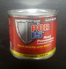 POR-15 Gloss Black 4 ounce - paint over rust