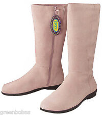 New Dexter Manor Ladies Light Pink Suede Kidskin Leather Tall Boots 9 M