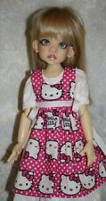 Ball Jointed Doll Apron Kaye Wiggs Dollstown MSD Clothing BJD Red Hello Kitty