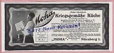 NÜRNBERG, Werbung 1918, Moha GmbH Küche Koch-Buch Hausfrau Krieg Topf-Heber