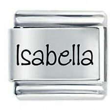 ISABELLA Name - Daisy Charm by JSC Fits Classic Size Italian Charms Bracelet