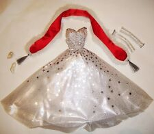 Barbie Fashion Holiday White Gown For Barbie Dolls h1f