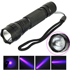 501B CREE LED Mini Flashlight 365NM 18650 Strong UV Light Torch Lamp Blacklight
