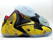 NIKE LEBRON XI 11 ID BLACK/TOUR YELLOW/METALLIC GOLD SIZE MEN'S 13 [641217-