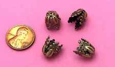 10 MM-ANT BRASS OX ROCOCCO STYLE BEAD CAP - 6 PC(s)