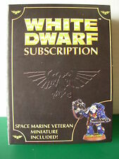 Limited Edition Warhammer 40k Space Marine Veteran White Dwarf 2008 Rare OOP