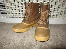 Vintage Sorel Insulated Winter Duck Boots mens 11 made Canada Waterproof Leather