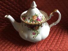 ROYAL ALBERT BONE CHINA LG.6-CUP TEA POT-OLD COUNTRY ROSES-1962-UK-NEW-MINT-$125