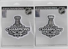 2012 and 2014 STANLEY CUP CHAMPIONS LA KINGS JERSEY PATCHES 100% AUTHENTIC