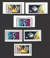 J F KENNEDY – 1964 Chad #231A-C perf & imperf sets MNH (6)