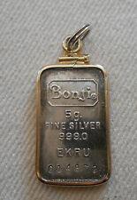 Vtg 99.9 Pure Fine Silver Bonji EKRU Numbered Charm  251106