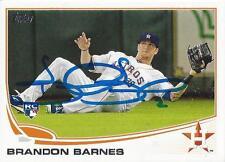 Brandon Barnes Houston Astros 2013 Topps Signed Card