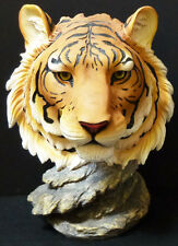 "LOKI  Orange Bengal Tiger Bust   Statue Figurine  H7"" x L14"""