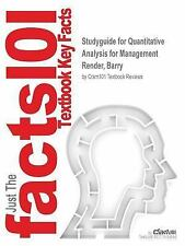 Studyguide for Quantitative Analysis for Management by Render, Barry, ISBN 9780