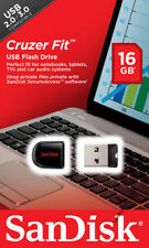 Sandisk CRUZER FIT 16GB SDCZ33-16G-B35 USB 2.0 Flash Pen Drive 16G NEW Micro