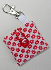 Handmade iPod Shuffle 4th Generation Case/Cover/Pouch. Floral cotton fabric.