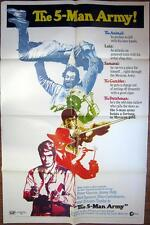 1970 THE 5-MAN ARMY ~ Bud Spencer ~ Peter Graves & More !~MOVIE POSTER 1 SH OR