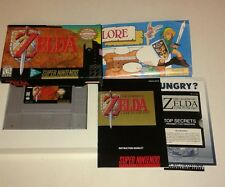 The Legend of Zelda: A Link to the Past (Super Nintendo, 1992) Complete w/ Map