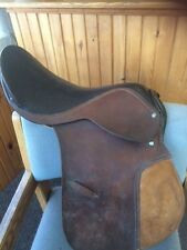 """16.5"""" Brown Leather All Purpose English Horse Riding Saddle"""