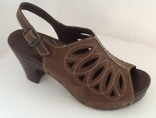 DANSKO Women's Brown Leather Sandals Rowena Sz 8.5 9 / 39 EUC