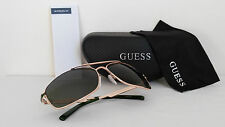 Guess GUF117-2 Men's Gold Frame Designer Sunglasses