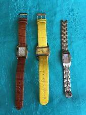 Ladies Watch Lot DKNY Stainless Deauville Armitron Leather Needs Batteries 451
