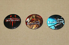 The Incredible Adventures of Van Helsing / Death Trap 2 Promo Button Pin