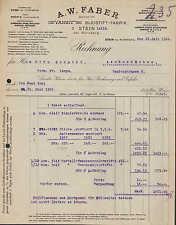 STEIN b. NÜRNBERG, Rechnung 1922, CASTELL-Bleistift-Fabrik A. W. Faber