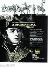 PUBLICITE ADVERTISING 116  1994  les Etains du Prince collection empire Napoleon